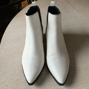 Marc Fisher Shoes - Marc Fisher Yale Chelsea Bootie in White Leather